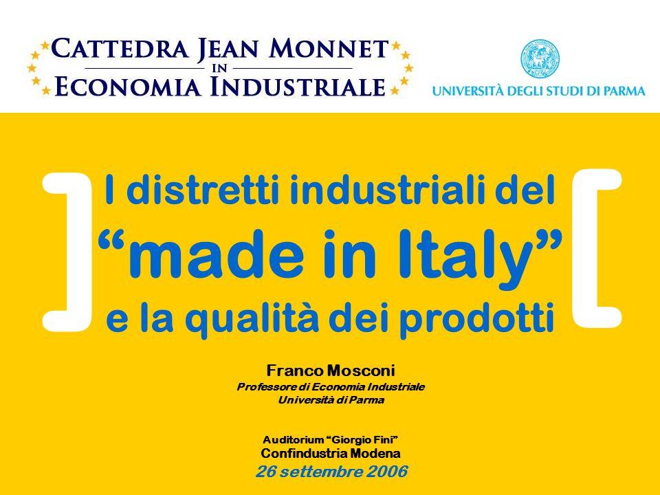 [ ] I distretti industriali del made in Italy